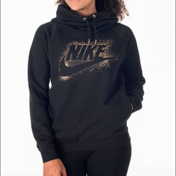 uk cheap sale authentic new specials Black nike cowl neck hoodie